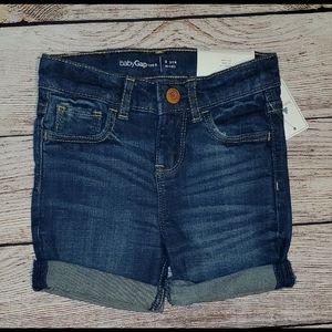 Denim midi shorts